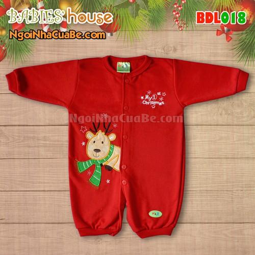 Bodysuit sơ sinh Tuần Lộc Noel ngộ nghĩnh cho Bé 0-12 tháng tuổi