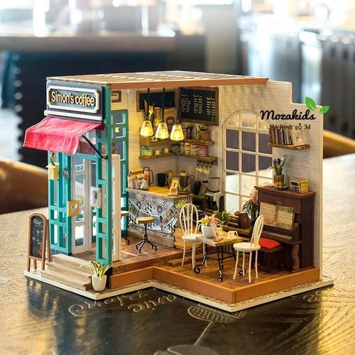 Đồ chơi lắp ráp gỗ 3D Mô hình nhà Doll House Simon Coffee kèm đèn LED - 4482496 , 11637543 , 15_11637543 , 469000 , Do-choi-lap-rap-go-3D-Mo-hinh-nha-Doll-House-Simon-Coffee-kem-den-LED-15_11637543 , sendo.vn , Đồ chơi lắp ráp gỗ 3D Mô hình nhà Doll House Simon Coffee kèm đèn LED