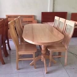 Bộ bàn ghế ăn gỗ sồi nga