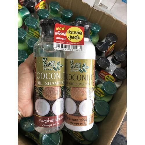 Cặp dầu gội và xả dừa Thái Lan