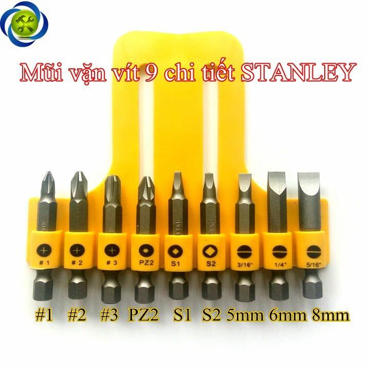 Mũi vặn vít 9 chi tiết Stanley 68-070 1