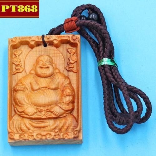 Vòng cổ mặt gỗ ngọc am Phật Di lặc DMG25