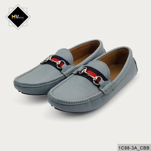 Giày nam lười thời trang da thuộc màu ghi APCN 1C88-3A_CBB