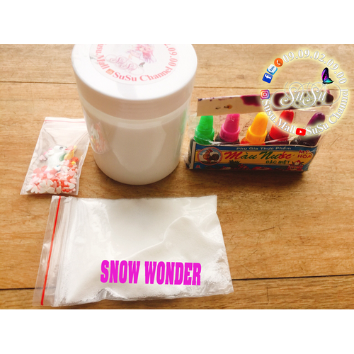 BỘ KIT SLIME MÂY VỚI SNOW WONDER