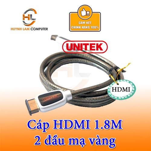 Cáp HDMI 1.8M Unitek 1.4-4K Y-C 113A chính hãng
