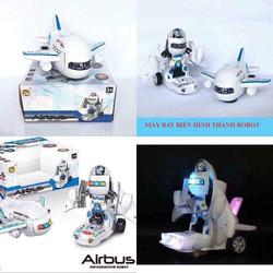 Đồ chơi máy bay robot biến hình có đèn và nhạc