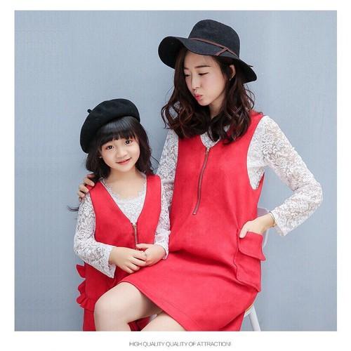 set đầm kèm áo ren cho mẹ và bé - 5317503 , 11657874 , 15_11657874 , 380000 , set-dam-kem-ao-ren-cho-me-va-be-15_11657874 , sendo.vn , set đầm kèm áo ren cho mẹ và bé
