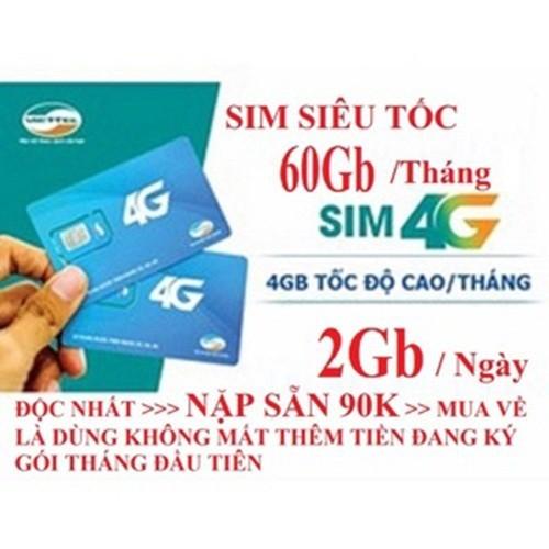 [FREE THÁNG ĐẦU] SIM 4G VIETTEL V90 TẶNG 62GB DATA-NGHE GỌI