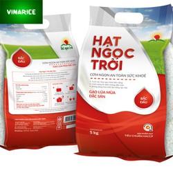 Combo Gạo Hạt Ngọc Trời Bắc Đẩu 10kg - lúa mùa 6th gạo trắng ráo mềm ngọt thơm - 5kg x 2