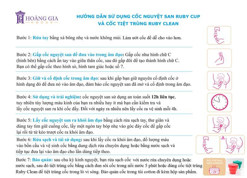 Cốc nguyệt san Ruby cup, Anh, màu Trong Size M, NK độc quyền 12