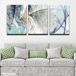 Bộ 3 tranh canvas chủ đề phá cách - Khung hình Phạm Gia PGTK334