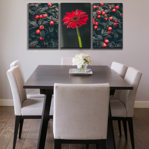 Bộ 3 tranh canvas chủ đề hoa - Khung hình Phạm Gia PGTK227