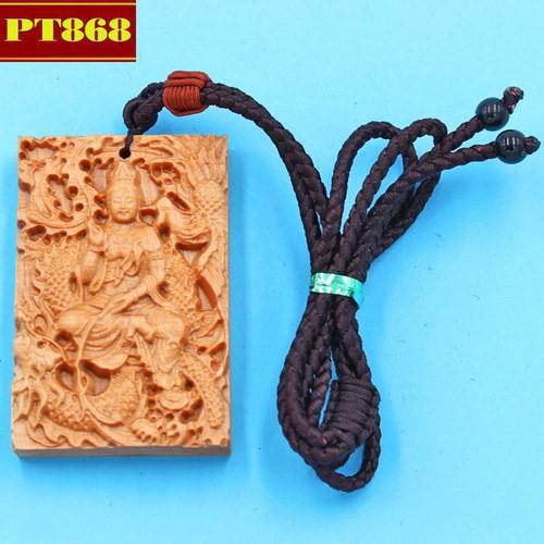 Vòng cổ mặt gỗ ngọc am tượng Quan âm DMG15
