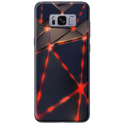 Ốp lưng nhựa dẻo Samsung S8 Tam giác đen đỏ