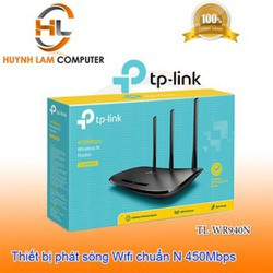 Router WiFi  TPlink 940N chuẩn N 450Mbps chính hãng - FPT phân phối