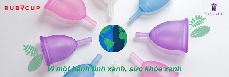 Cốc nguyệt san Ruby cup, Anh, màu Trong Size M, NK độc quyền 1