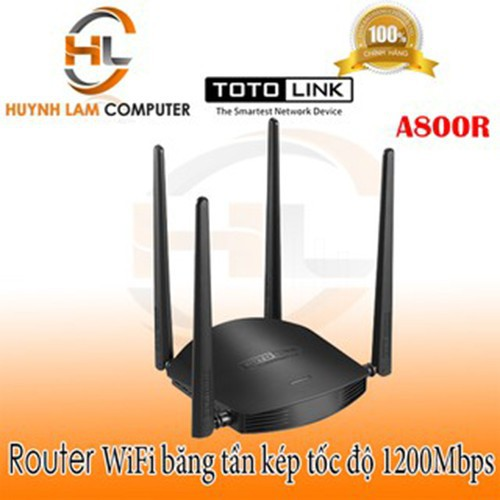 Bộ phát wifi - Router wifi Totolink A800R chính hãng DGW phân phối