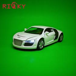 Siêu Xe Audi R8 mô hình xe sắt nhiều tính năng