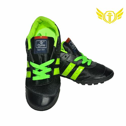 Giày đá bóng vải sân cỏ nhân tạo Chí Phèo 004C đen chuối