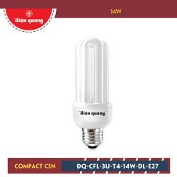 Đèn Compact Điện Quang ĐQ-CFL-3U-T4-14W-DL-E27