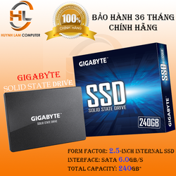 SSD 240GB Gigabyte chuẩn 2.5inch sata 3 Chính hãng Viễn Sơn Phân phối - SSD002