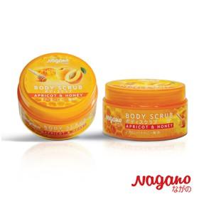 Kem Tẩy Tế Bào Chết Mật Ong Và Tinh Dầu Hạt Mơ Nagano Japan 100g - Body Scrub Apricot & Honey Nagano 100g - Tẩy tế bào chết dành cho da mặt và toàn thân - NG1024