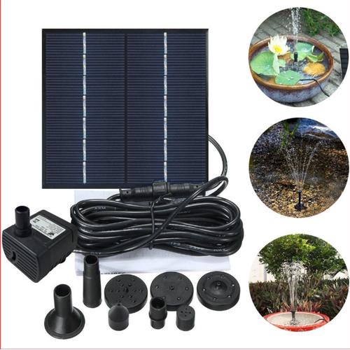 Đài phun nước tạo o xy sử dụng tấm pin mặt trời 1.2w - best seller tony