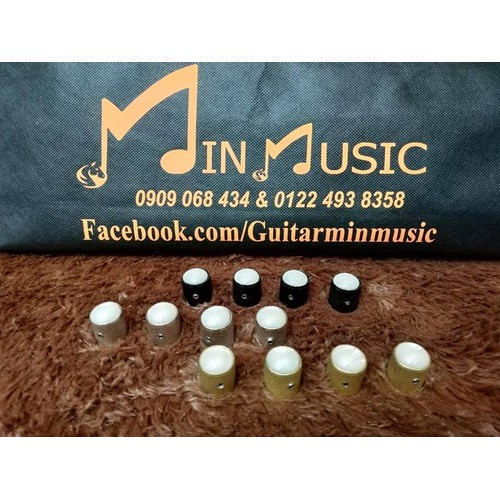 Núm volume guitar Kim loại đính đá