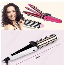 lược điện 3in1 xoăn là dập xù tóc cao cấp nova