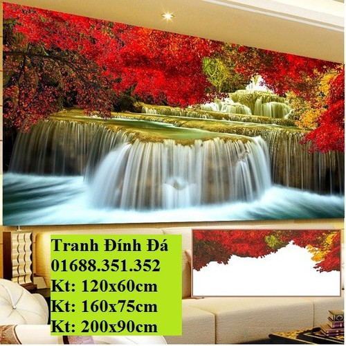 Tranh đính đá Lưu thủy sinh tài Y8100 200X90CM
