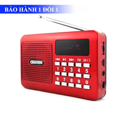 Radio Mini Nghe Đài, Nghe Nhạc Thẻ Nhớ, USB Craven CR-16