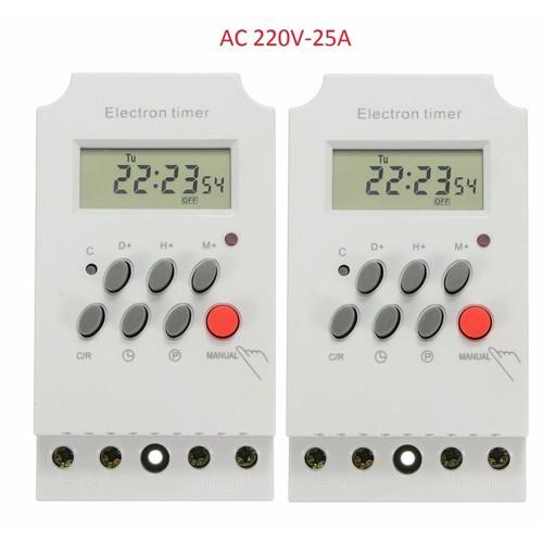 Bộ 2 Công tắc hẹn giờ KG316T-II tắt mở tự động chuẩn công nghiệp 25A