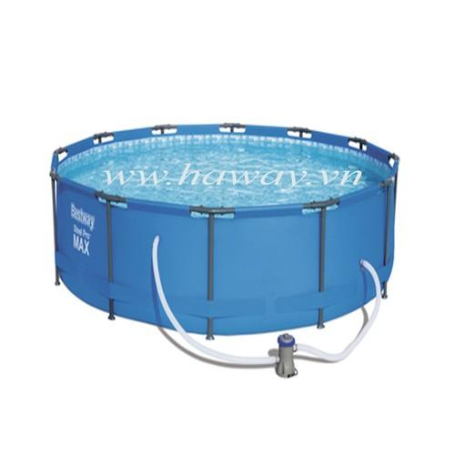 Bể bơi bestway khung chống kim loại kt 3.66m x 76cm