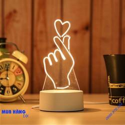 Đèn Ngủ 3D Ánh Sáng Sáng Tạo Hình Gửi Trái Tim
