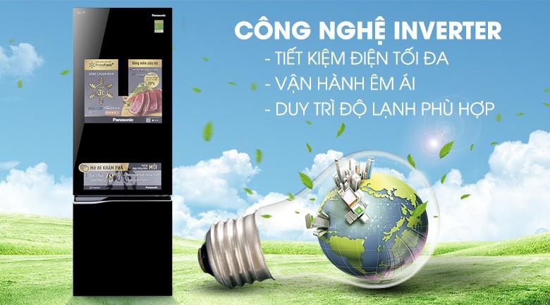 Công nghệ Inverter tiết kiệm điện - Tủ lạnh Panasonic Inverter 322 lít NR-BC369QKV2