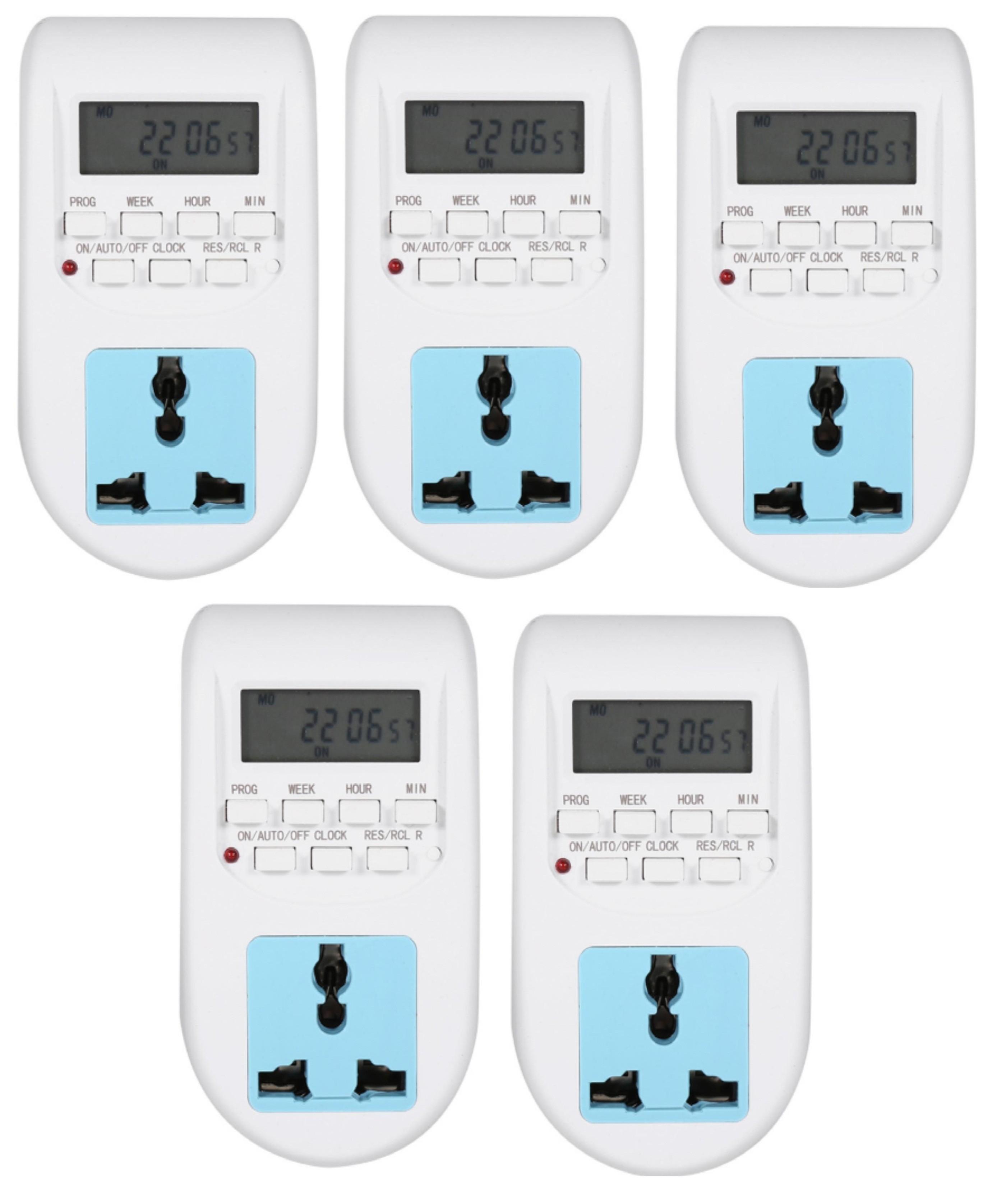 Bộ 5 Ổ cắm điện thông minh hẹn giờ tắt mở JA Model AL06 GamoShop, giá chỉ  475,000đ! Mua ngay kẻo hết!