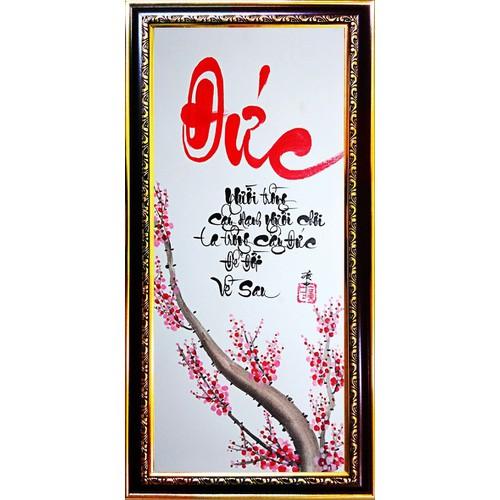 Tranh thư pháp vẽ tay chữ Đức - 5353662 , 11705026 , 15_11705026 , 419000 , Tranh-thu-phap-ve-tay-chu-Duc-15_11705026 , sendo.vn , Tranh thư pháp vẽ tay chữ Đức