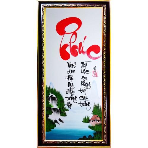 Tranh thư pháp vẽ tay chữ Phúc - 5352769 , 11703529 , 15_11703529 , 419000 , Tranh-thu-phap-ve-tay-chu-Phuc-15_11703529 , sendo.vn , Tranh thư pháp vẽ tay chữ Phúc