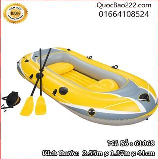 Thuyền Bơm Hơi 2 người 2 ghế Vàng 2.55m x 1.27m x 41cm- Bestway 61068 - 61068kh1 thumbnail
