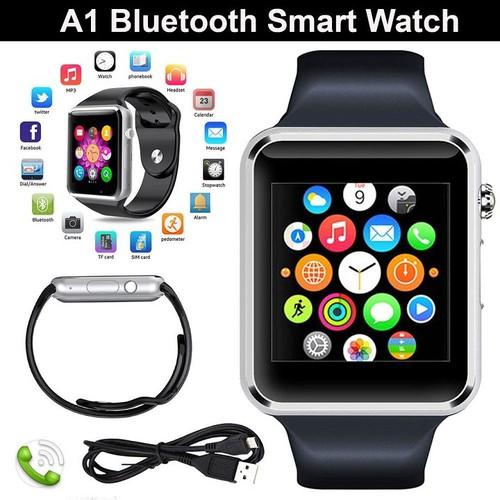 Đồng hồ thông minh smartwatch A1 Đen cao cấp