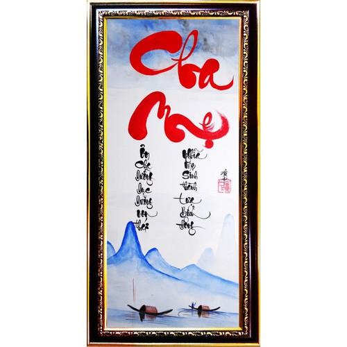 Tranh thư pháp vẽ tay chữ Cha Mẹ - 5353644 , 11704983 , 15_11704983 , 429000 , Tranh-thu-phap-ve-tay-chu-Cha-Me-15_11704983 , sendo.vn , Tranh thư pháp vẽ tay chữ Cha Mẹ