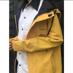 Áo khoác dù nam phối có nón mẫu mới 2018