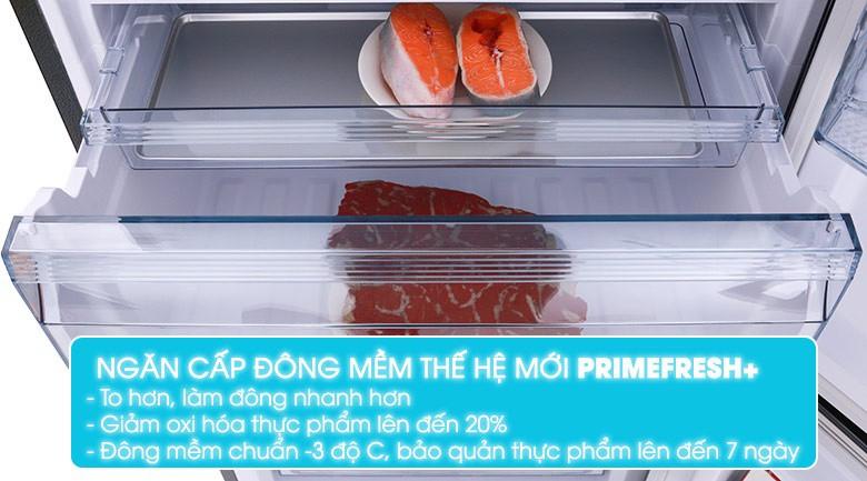 Ngăn đông mềm Prime Fresh+ để bảo quản thịt cá - Tủ lạnh Panasonic Inverter 322 lít NR-BC369QKV2