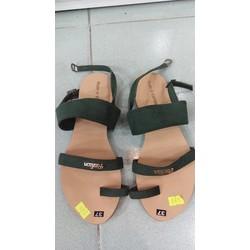 Sandal xỏ ngón nữ màu rêu