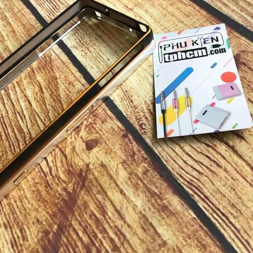 Viền Sony Xperia Z2 nhôm móc câu chỉ vàng