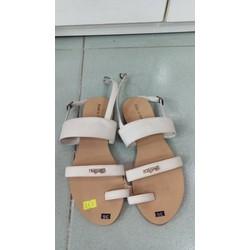 Sandal xỏ ngón nữ màu trắng