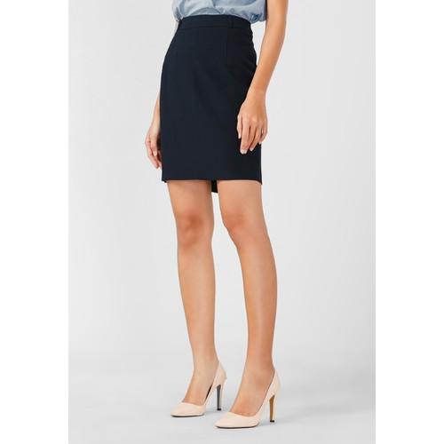 Váy nữ PAPKA công sở xẻ túi hông - 4042 Xanh Đen