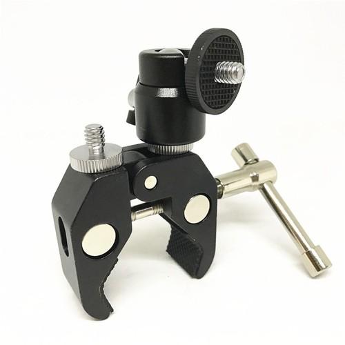 Kẹp ghi đông nhôm CNC và ball head  Q29 mini