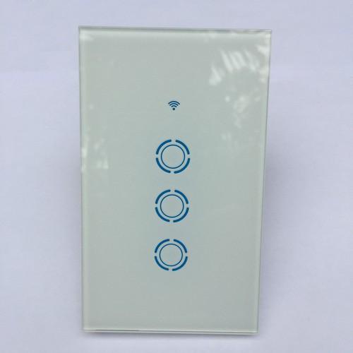 Công tắc cảm ứng âm tường thông minh điều khiển qua mạng wifi US 3CH