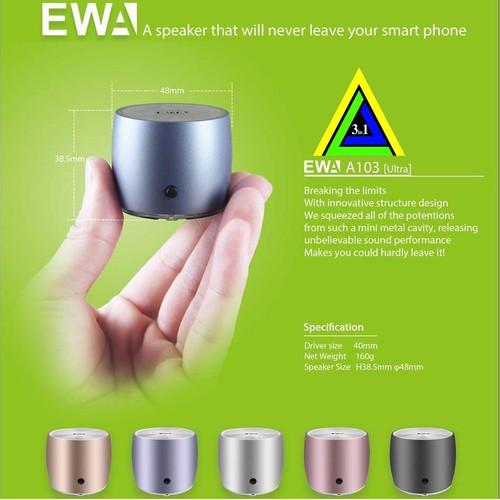 Loa Bluetooth EWA A103 Nhỏ Gọn Bỏ Túi